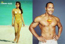 Priyanka in Baywatch Movie along with Dwyane Johnson