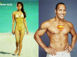 Priyanka in Baywatch Movie along with Dwyane Johnson