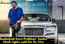 Baahubali hero Prabhas' Saaho Hindi rights sold for Rs 50cr