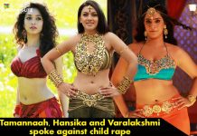 Tamannaah, Hansika and Varalakshmi spoke against child rape
