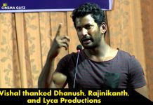 Vishal thanked Dhanush, Rajinikanth, and Lyca